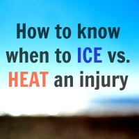How to know when to ICE vs. HEAT an injury
